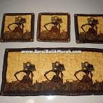 Taplak Meja Batik Wayang