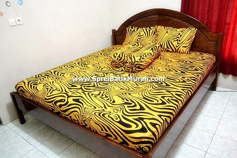 Sprei Batik | Sprei Batik Kuning Berseri