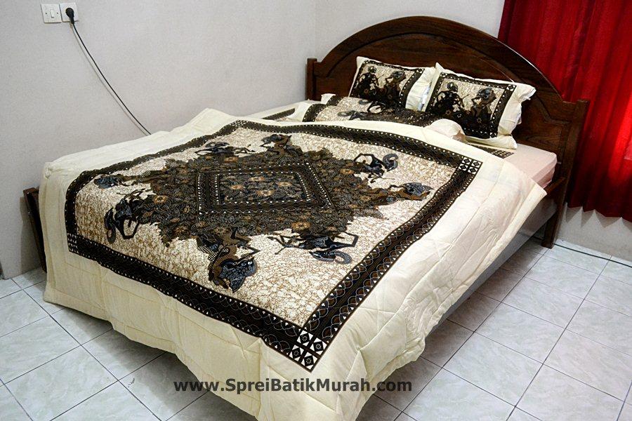 Bed Cover Batik Wayang Arjuna | Bed Cover Batik Wayang