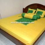 Sprei Batik Jumput Kuning Kombinasi
