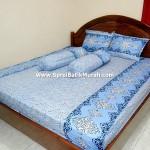 Sprei Batik Murah Biru Laut