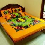 Sprei Batik Lukis Modern Orange
