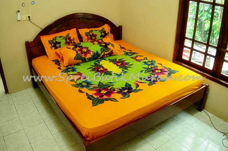 Sprei Batik Lukis Modern Orange ( art ) made in Pekalongan ...